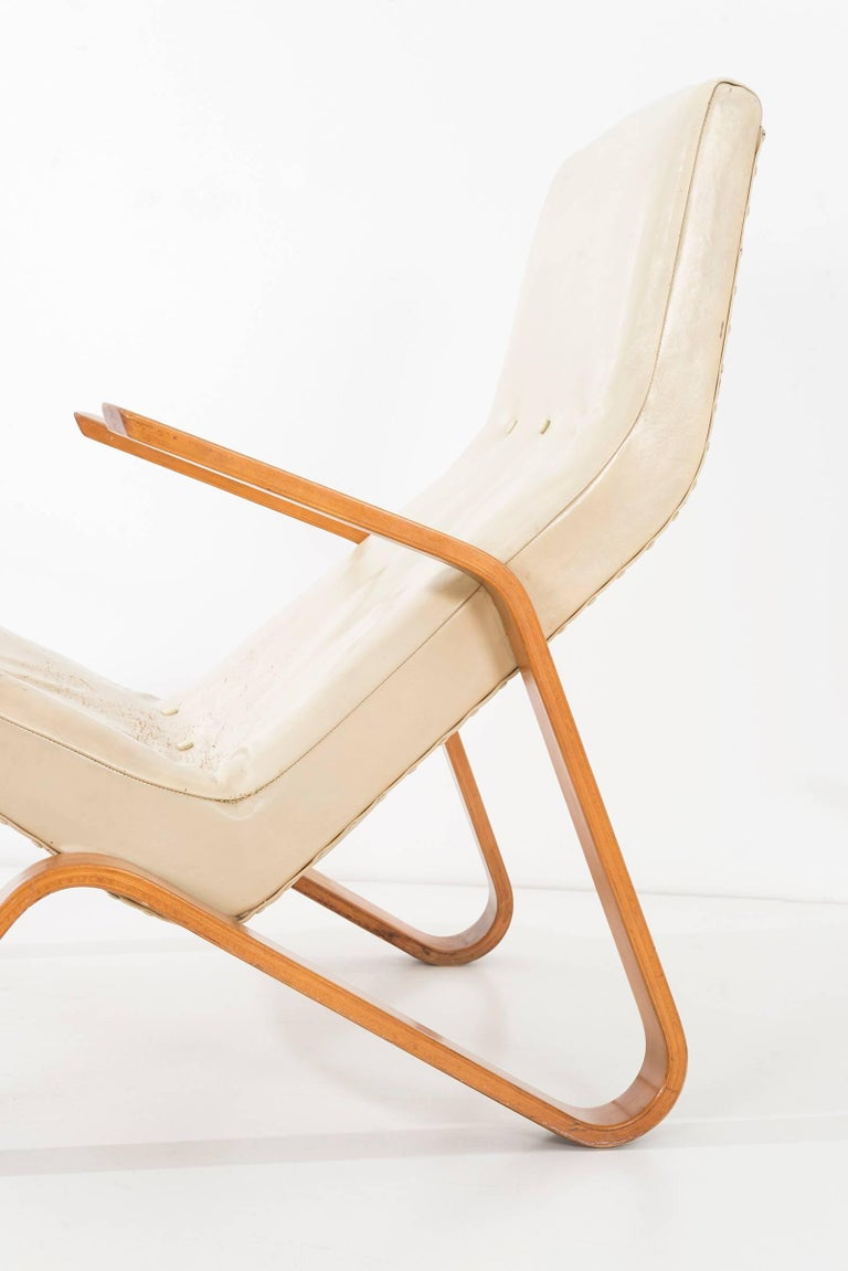 Leather Eero Saarinen Grasshopper Lounge Chair For Sale
