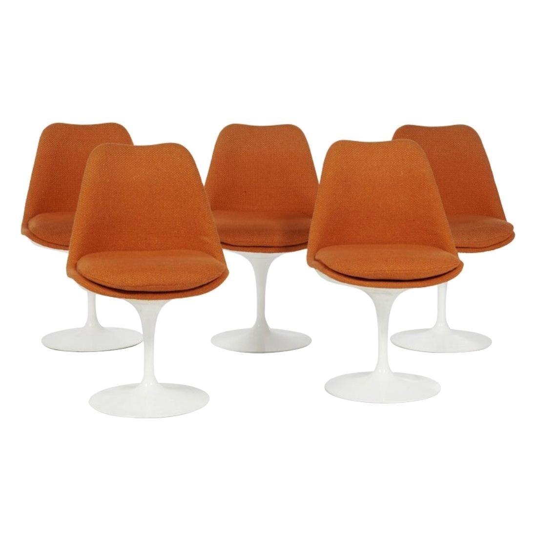 Eero Saarinen & Knoll 5 Tulip Chairs