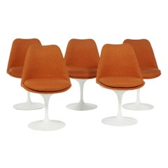 Eero Saarinen & Knoll 5 Tulip Chairs