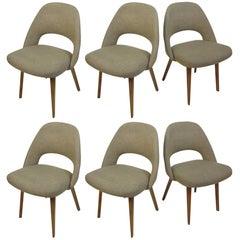 Eero Saarinen Knoll Dining Chairs with Bent Wooden Legs