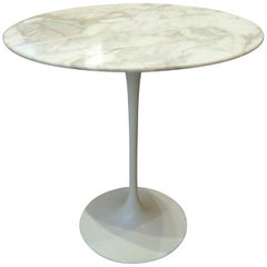 "Eero Saarinen & Knoll, ""Tulip"" Marble Gueridon Table, xxth"