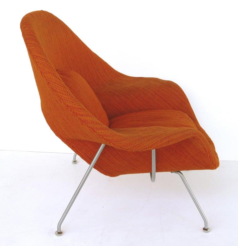 American Eero Saarinen Knoll Womb Chair in Knoll Cato Wool Fabric For Sale