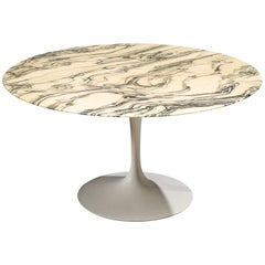 Eero Saarinen Large 'Tulip' Dining Table with Marble Top for Knoll