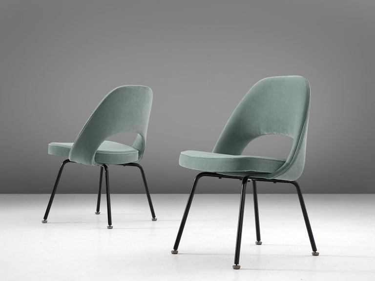 American Eero Saarinen Set of Eight Customized Dining Chairs For Sale