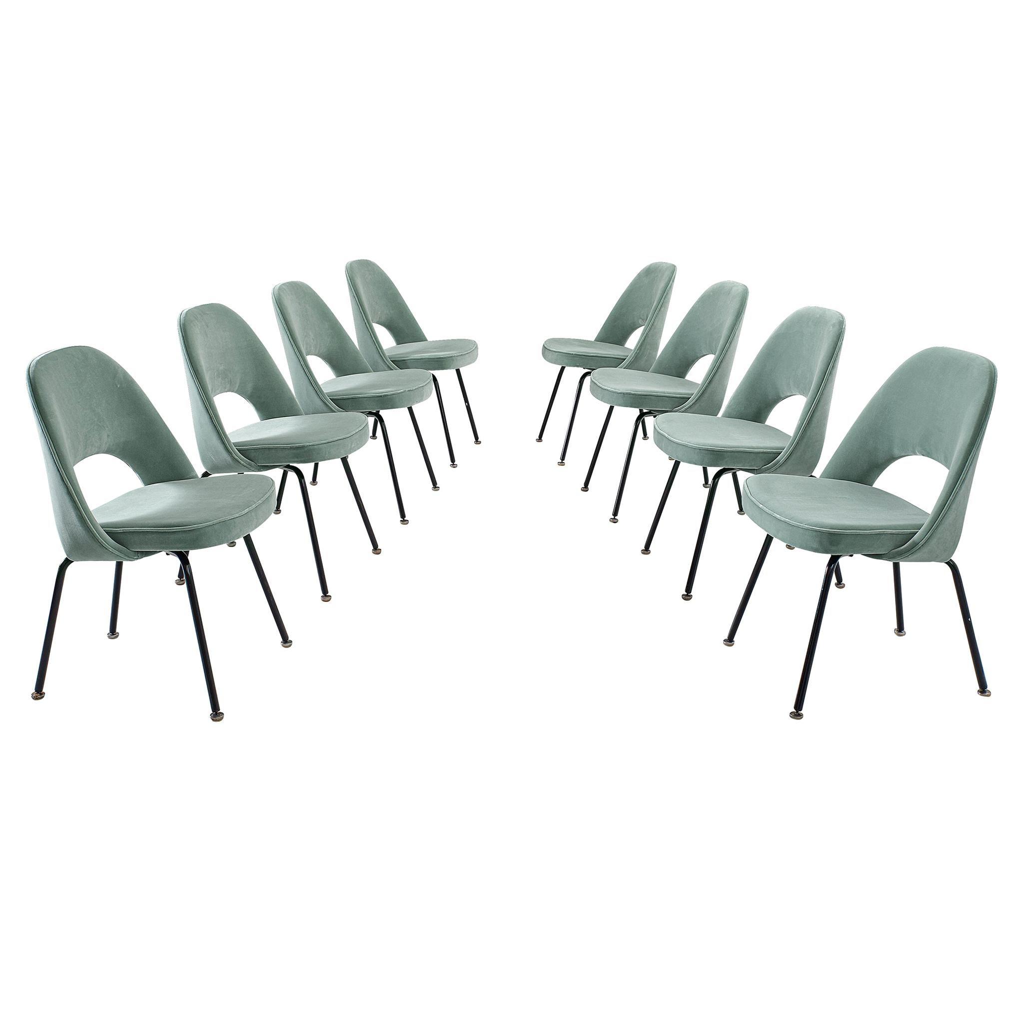 Eero Saarinen Set of Eight Customized Dining Chairs