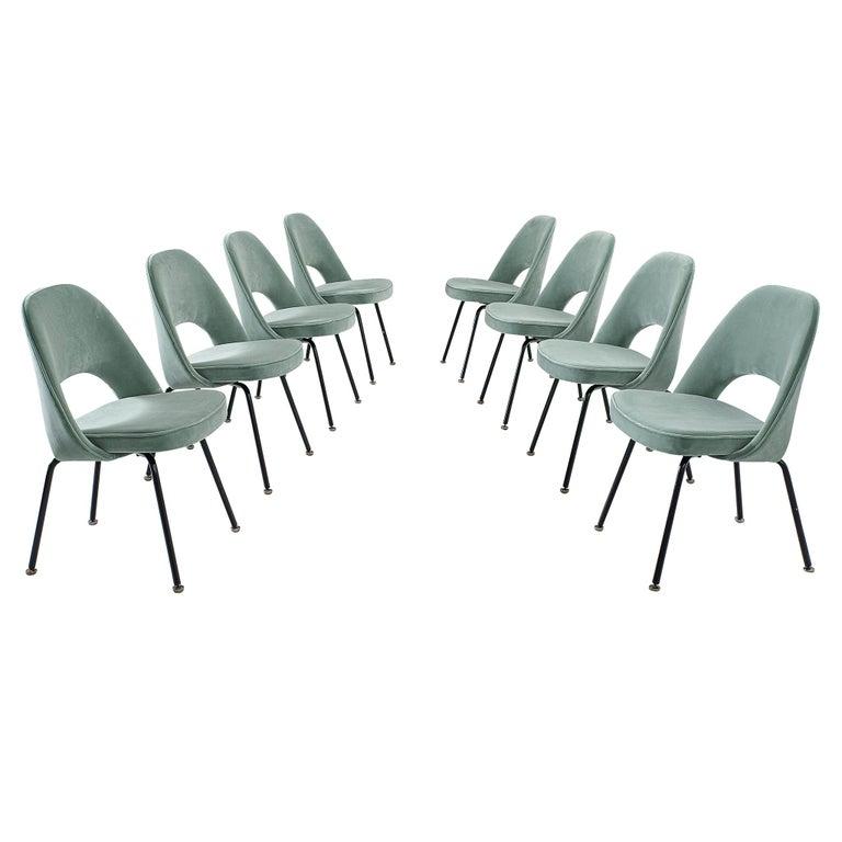 Eero Saarinen Set of Eight Customized Dining Chairs For Sale