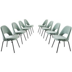 Eero Saarinen Set of Eight Customized Dining Chairs