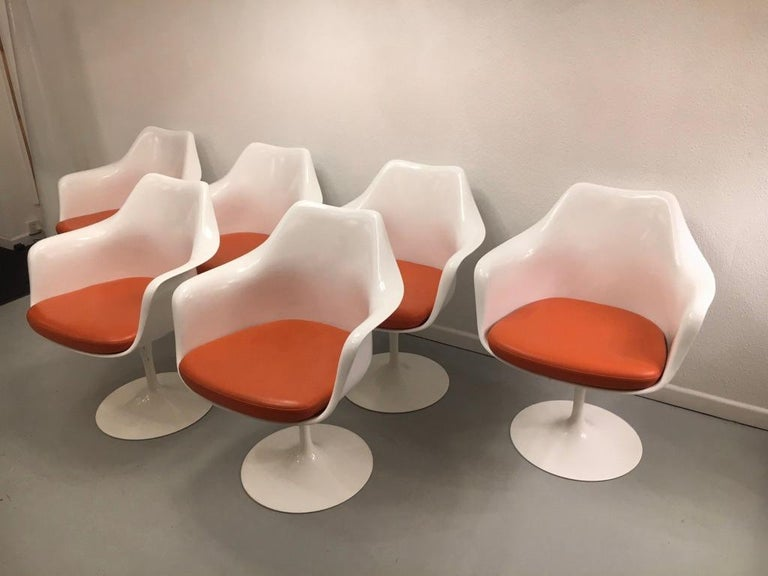 Set of 6 tulip armchairs by Eero Saarinen for Knoll, circa 2006