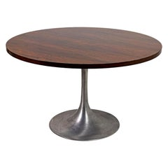 "Eero Saarinen, ""Tulip Table"" in Rosewood and Brushed Aluminum, 1956"