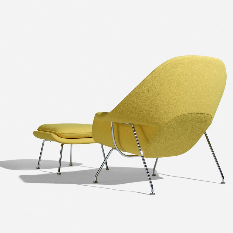 North American Eero Saarinen Womb Chair and Ottoman for Knoll For Sale