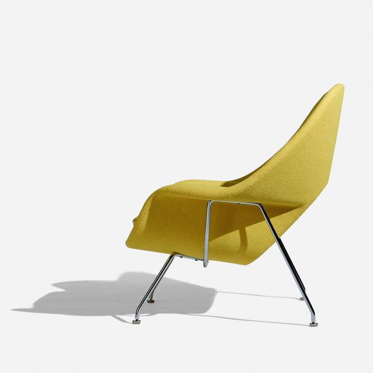 Plated Eero Saarinen Womb Chair and Ottoman for Knoll For Sale
