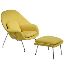 Eero Saarinen Womb Chair and Ottoman for Knoll