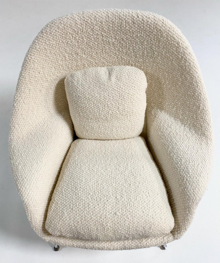 """Available now. Ready to ship.     """"Eero Saarinen designed the groundbreaking Womb chair at Florence Knoll's request for 'a chair that was like a basket full of pillows - something she could really curl up in.' This mid-century classic"""