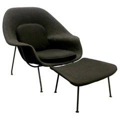 Eero Saarinen Womb Chair and Ottoman, Knoll, USA, 1950s-1960s