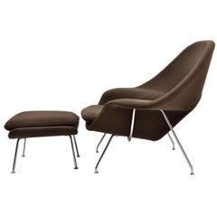 Eero Saarinen Womb Chair and Ottoman Produced by Knoll