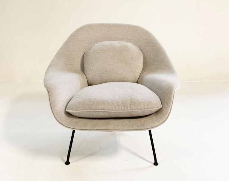 Eero Saarinen Womb Chair in Loro Piana Alpaca Wool For Sale 6