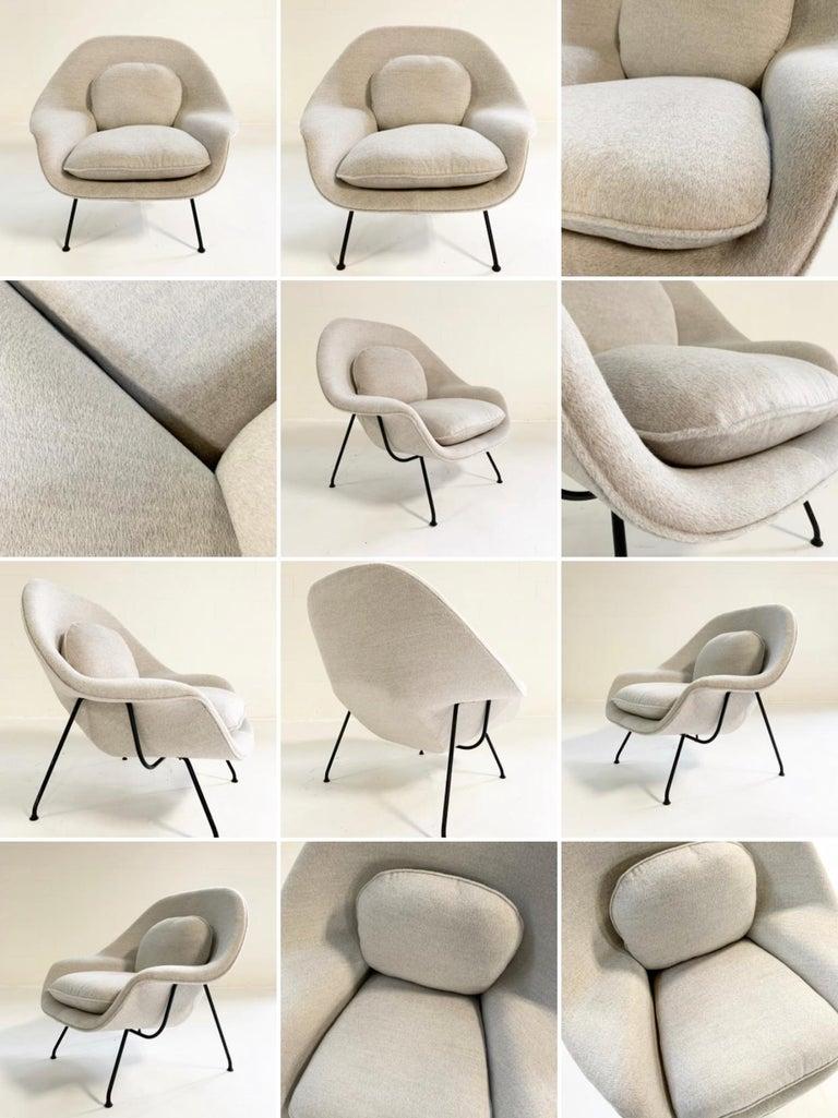 Eero Saarinen Womb Chair in Loro Piana Alpaca Wool For Sale 7