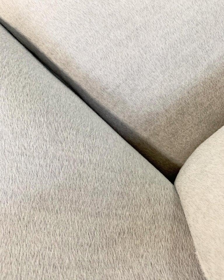 American Eero Saarinen Womb Chair in Loro Piana Alpaca Wool For Sale