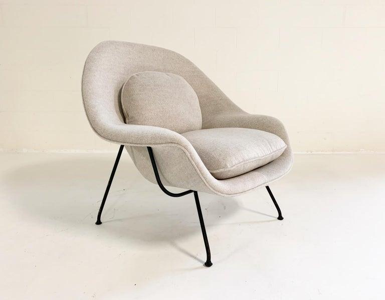 Eero Saarinen Womb Chair in Loro Piana Alpaca Wool For Sale 1