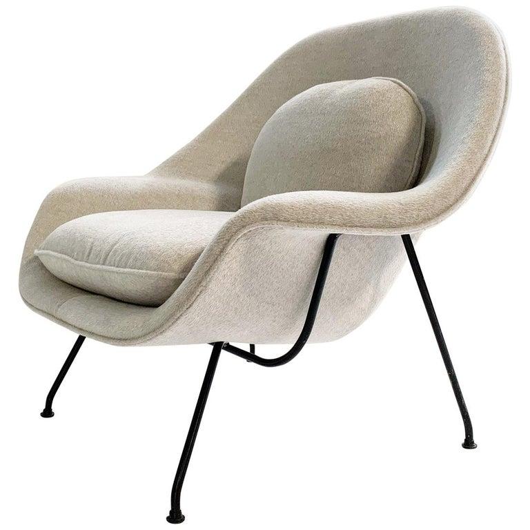 Eero Saarinen Womb Chair in Loro Piana Alpaca Wool For Sale
