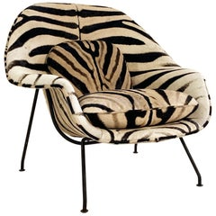 Eero Saarinen Womb Chair in Zebra