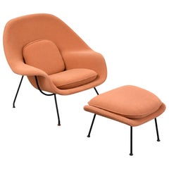 Eero Saarinen Womb Lounge Chair and Ottoman, USA, 1960s