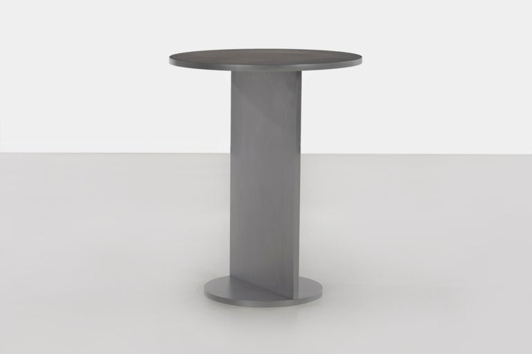 Minimalist Eero Table in Wax-Polished Aluminum Plate by Jonathan Nesci For Sale