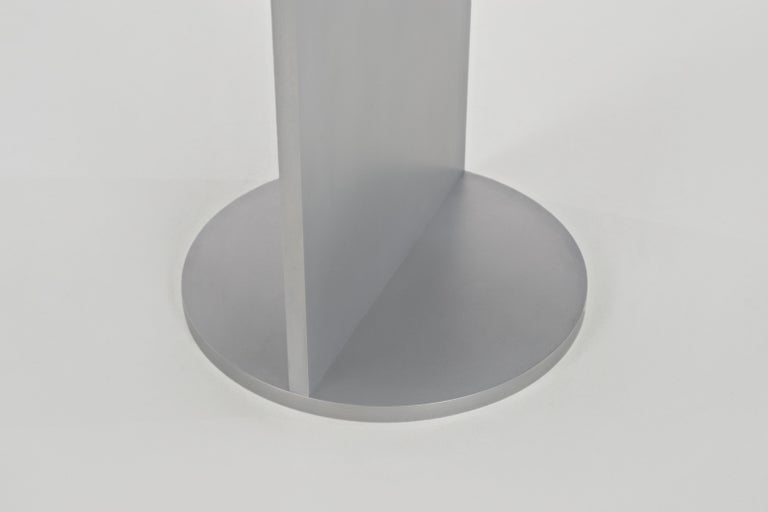 American Eero Table in Wax-Polished Aluminum Plate by Jonathan Nesci For Sale