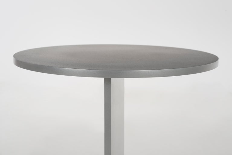 Burnished Eero Table in Wax-Polished Aluminum Plate by Jonathan Nesci For Sale