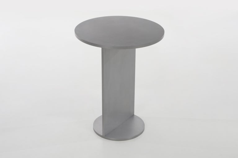 Eero Table in Wax-Polished Aluminum Plate by Jonathan Nesci In New Condition For Sale In Columbus, IN