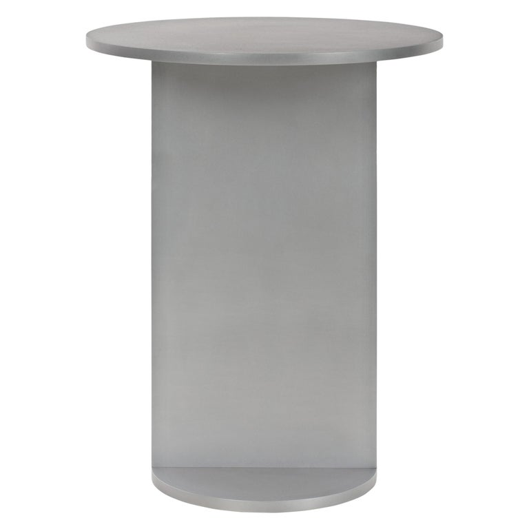 Eero Table in Wax-Polished Aluminum Plate by Jonathan Nesci For Sale