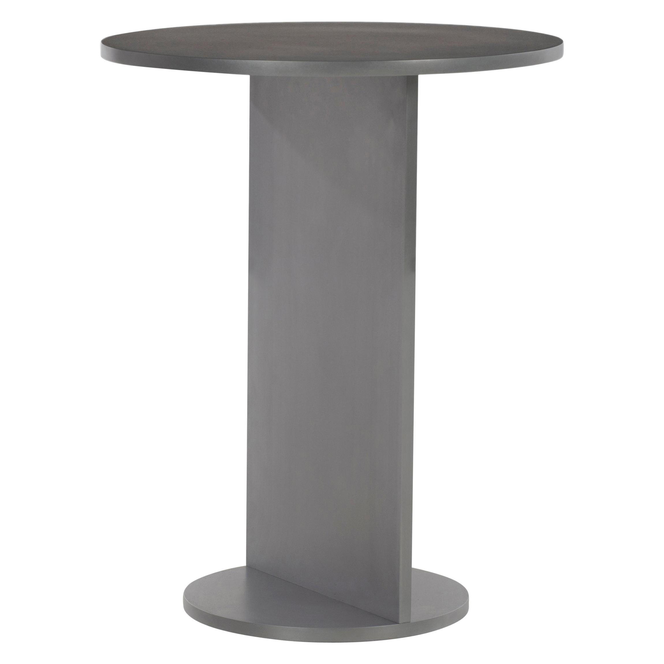 Eero Table in Wax-Polished Aluminum Plate by Jonathan Nesci