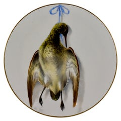EF Bodley Staffordshire Dead Game Aesthetic Cabinet Plate, A Snipe, circa 1875