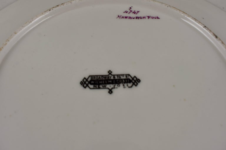 EF Bodley Staffordshire Dead Game Plates, a Hamburgh Fowl and Grouse, circa 1875 For Sale 2