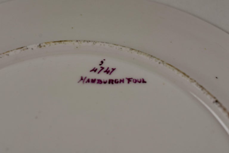 EF Bodley Staffordshire Dead Game Plates, a Hamburgh Fowl and Grouse, circa 1875 For Sale 3