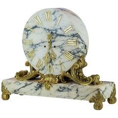 E.F. Caldwell & Co. Ormolu Mounted Marble Mantel Clock, circa 1900