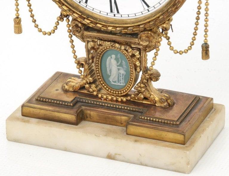 Neoclassical Revival E.F. Caldwell Neoclassical Desk Clock For Sale