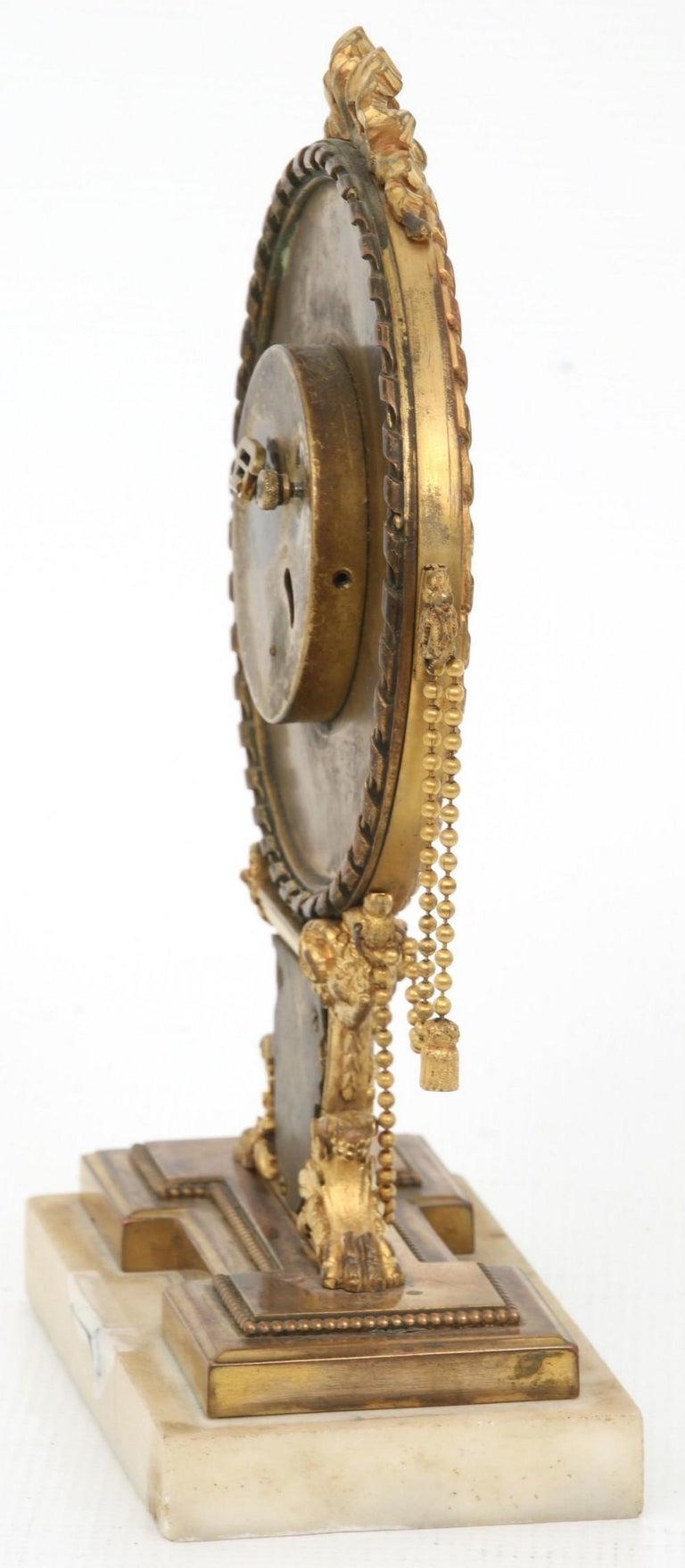 Gilt E.F. Caldwell Neoclassical Desk Clock For Sale