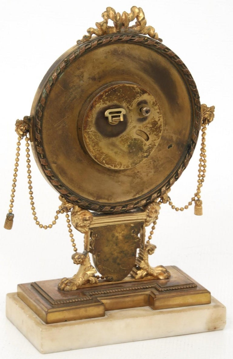 E.F. Caldwell Neoclassical Desk Clock In Good Condition For Sale In New York, NY