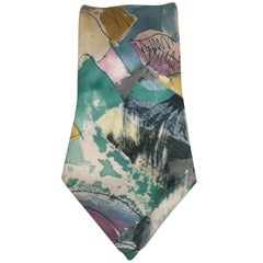 Effetto seta multicoloured silk tie