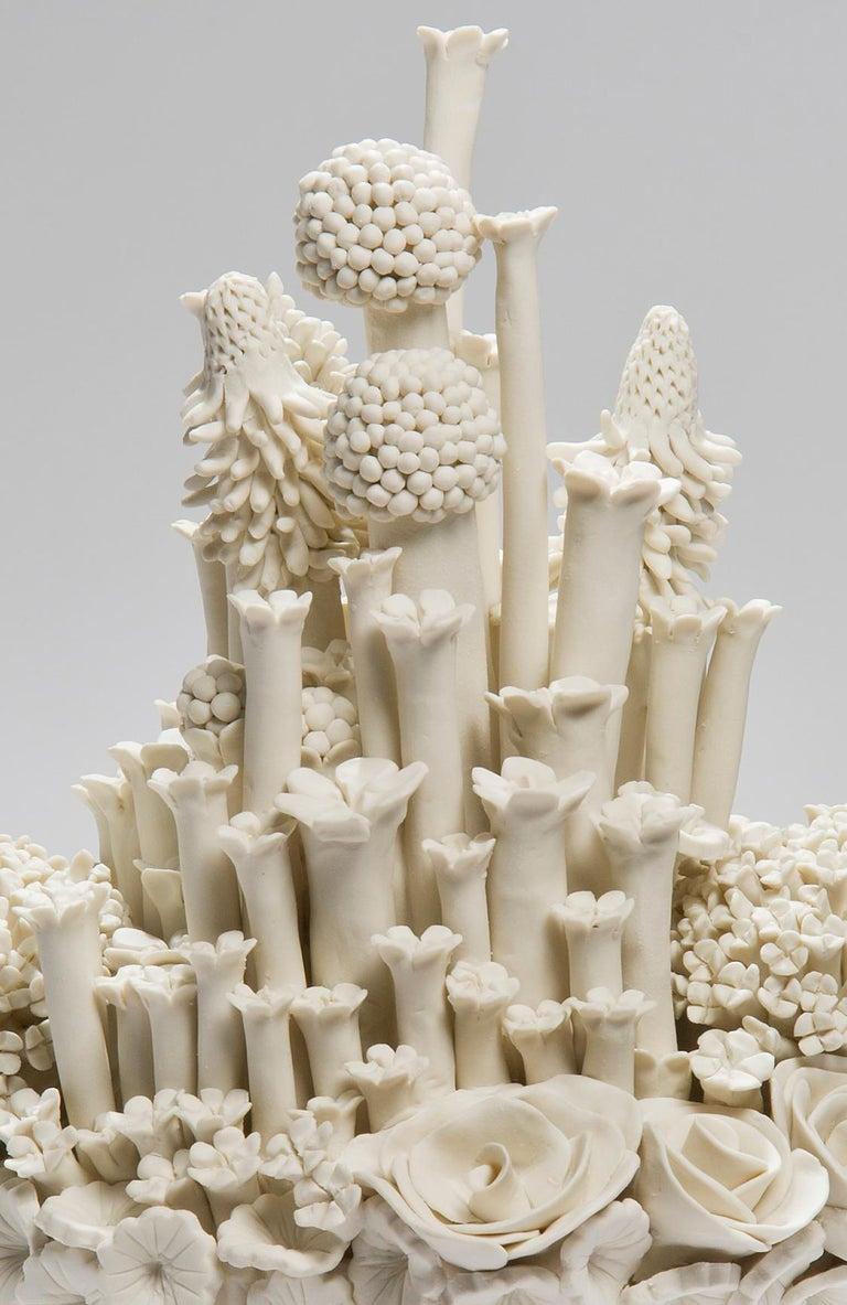 British Efflorescence I, a Unique Porcelain Floral Sculpture by Vanessa Hogge For Sale