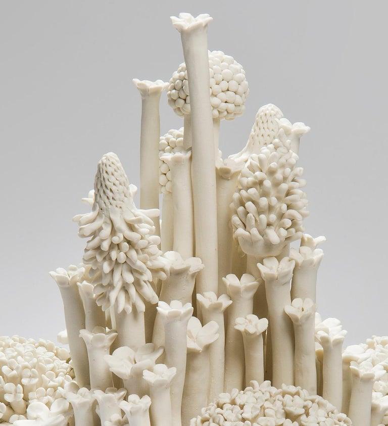 Hand-Crafted Efflorescence I, a Unique Porcelain Floral Sculpture by Vanessa Hogge For Sale