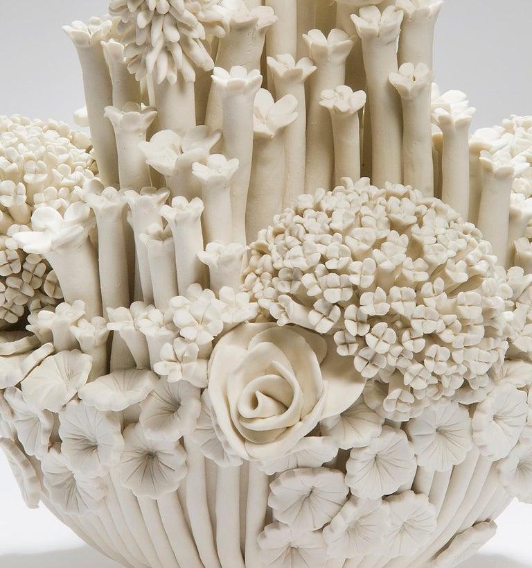 Contemporary Efflorescence I, a Unique Porcelain Floral Sculpture by Vanessa Hogge For Sale