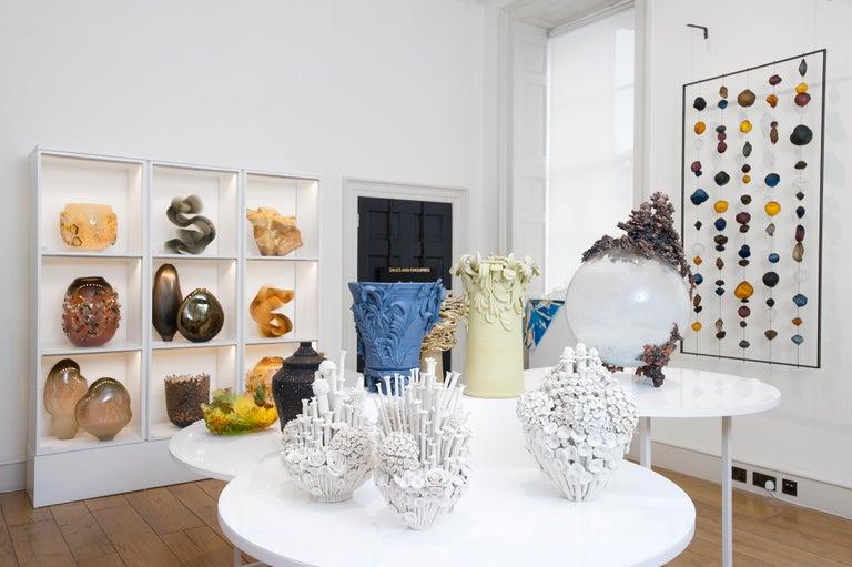 Efflorescence I, a Unique Porcelain Floral Sculpture by Vanessa Hogge For Sale 2