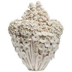 Efflorescence II, a Unique Porcelain Floral Sculpture by Vanessa Hogge
