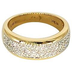 EFFY 1.00 Carat Diamond Encrusted Band Ring 14 Karat Gold