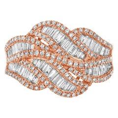 Effy 14 Karat Rose Gold Diamond Ring