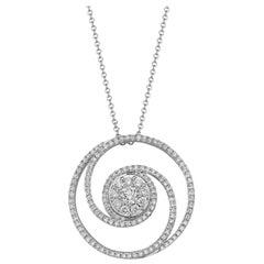 Effy 14 Karat White Gold Diamond Pendant