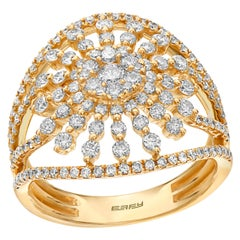 Effy 14 Karat Yellow Gold and Diamond Ring