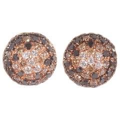 Effy Black White Diamond Earrings